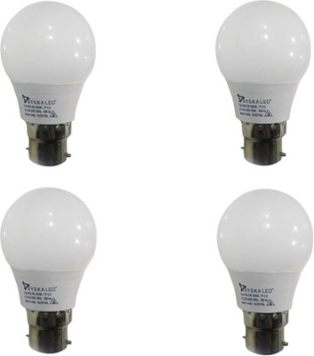 Syska-3-W-B22-LED-Bulb-(White,-pack-of-4)