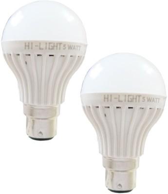 Hi-Light-5W-B22-LED-Bulb-(White,-Set-of-2)