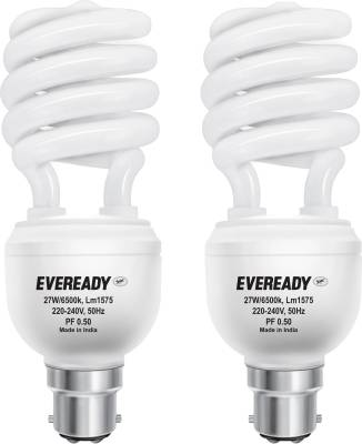 Eveready ELS 27W CFL Bulb (White, Pack of 2) Image