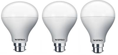 Wipro-Garnet-5W-B22-LED-Bulb-(Warm-White,-Pack-Of-3)