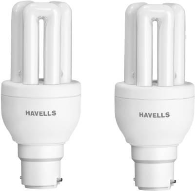 Havells 8 Watt CFL Bulb (Warm White.Pack of 2) Image