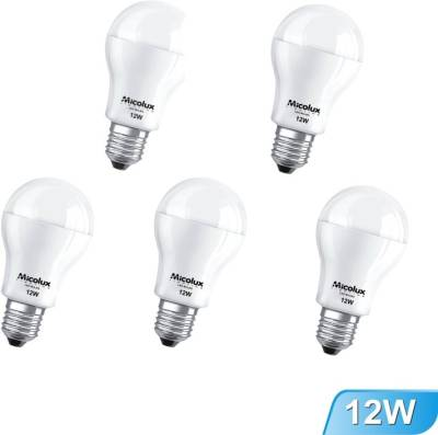 12W-Cool-Day-Light-E27-Base-LED-Bulbs-(Pack-Of-5)