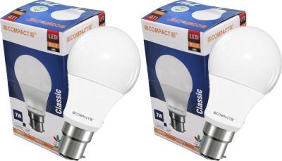 Compact-7W-B22-LED-Bulb-(Warm-White,Pack-of-2)