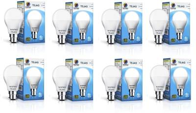 Wipro Tejas 5W B22 LED Bulb (White, Pack of 8) Image