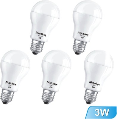 Micolux-Lighting-3W-E27-White-Led-Bulb-(Set-Of-5)