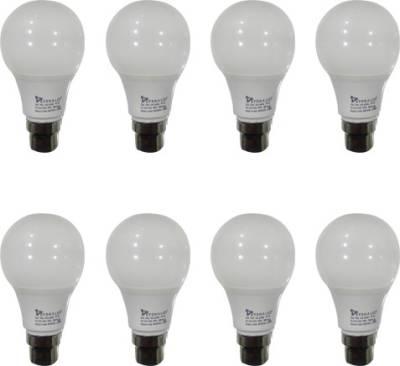 Syska 5W B22 Plastic LED Bulb (White, Pack of 8) Image