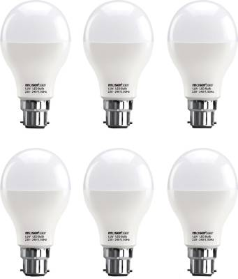 Moserbaer-12W-B22-LED-Bulb-(White,-Pack-of-6)