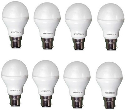 Pyrotech-9-W-B22-LED-Bulb-(Cool-White,-Pack-of-8)