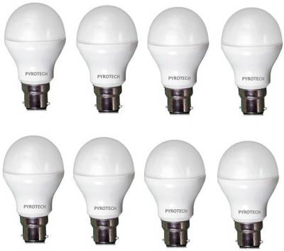 Pyrotech-7-W-B22-LED-Bulb-(Cool-White,-Pack-of-8)