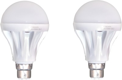 Crown-15-W-B22-LED-Bulb-(White,-Pack-of-2)