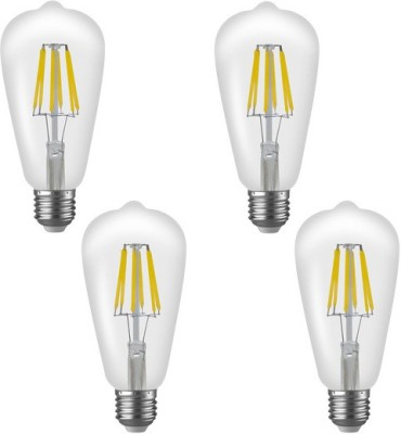Imperial-16182-ST01-6W-E27-LED-Filament-Bulb-(White,-Pack-Of-4)