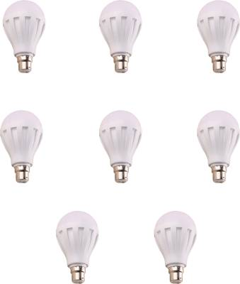 12W-B22-White-LED-Bulb-(Plastic,-Pack-of-8)