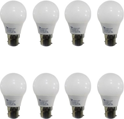 Syska-3W-B22-Plastic-LED-Bulb-(White,-Pack-of-8)