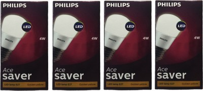 Philips-4W-Ace-Saver-LED-Bulb-(Yellow,-Pack-of-4)