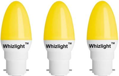 0.5-W-B22-LED-Bulb-(Yellow,-Pack-of-3)-