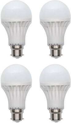 Gold-9W-Plastic-Body-Warm-White-LED-Bulb-(Pack-Of-4)