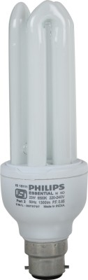 Philips-Essential-B22-23W-CFL-Bulb-(White,-Pack-of-4)
