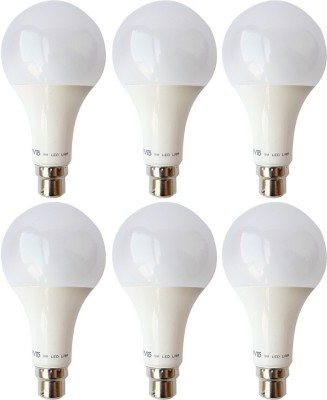 Vivid-9-W-B22-LED-Bulb-(White,-Pack-of-6)