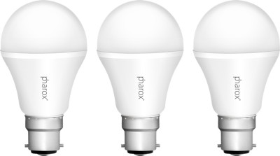 Pharox-7W-B22-Apollo-Led-Bulb-(Cool-White,-Set-Of-3)