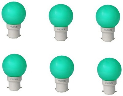 Pyrotech-0.5W-LED-Bulb-(Green,-Pack-of-6)