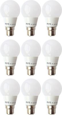 Vivid-3-W-B22-LED-Bulb-(White,-Pack-of-9)