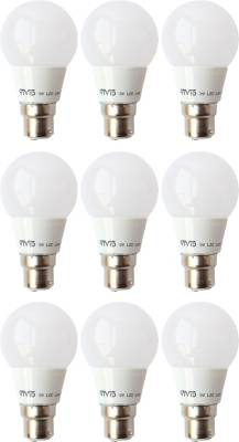 3-W-B22-LED-Bulb-(White,-Pack-of-9)