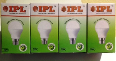 IPL-5W-B22-LED-Bulb-(White,-Set-of-4)