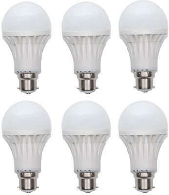 Kalash-Gold-15W-Plastic-Body-Warm-White-LED-Bulb-(Pack-Of-6)