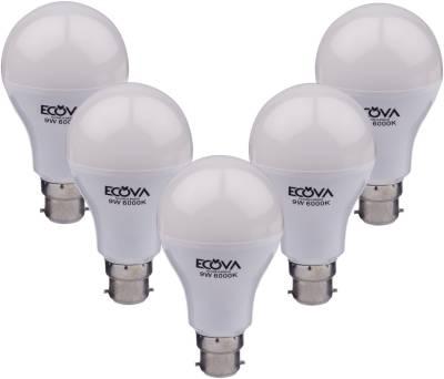 Ecova-9W-B22-900L-LED-Bulb-(White,-Pack-Of-5)