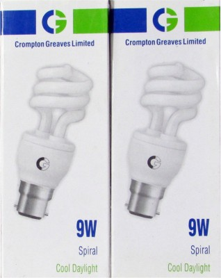 Crompton-Greaves-9-W-Spiral-CFL-Bulb-(Cool-Daylight,-Pack-of-2)