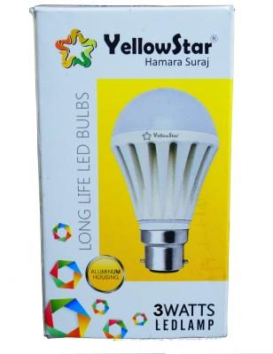 Yellowstar-3W-B22-LED-Bulb-(White,-Set-of-15)