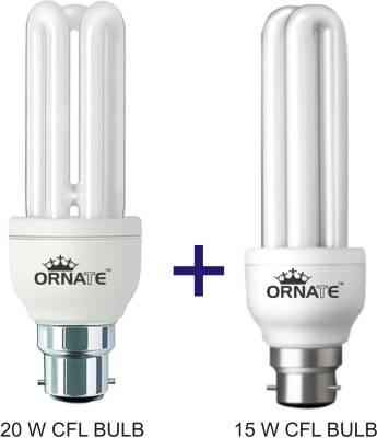 Ornate-Combo-Of-20W-3U-&-15W-2U-CFL-Bulbs-(White)