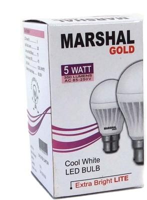 Marshal-Gold-5W-B22-LED-Bulb-(White,-Set-of-12)