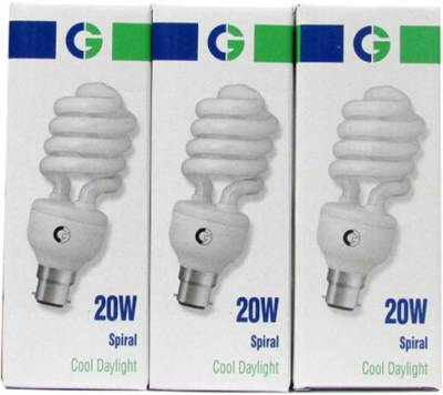 Greaves-20-W-Spiral-CFL-Bulb-(Cool-Daylight,-Pack-of-3)