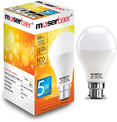 Moserbaer-5-W-LED-Ecolux-6500K-Cool-DayLight-Bulb-White