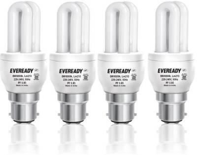 Eveready 5W B22 Mini CFL Bulb (White, Pack of 4) Image