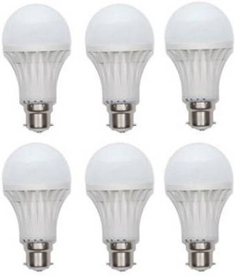 15W-Plastic-100-Lumens-White-LED-Bulb-(Pack-Of-6)