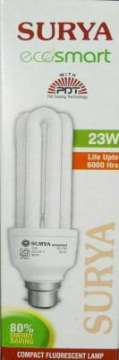 Surya-23-W-B22-CFL-Bulb-(White,-Pack-of-2)