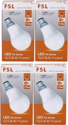 FSL-10W-B22-LED-Bulb-(Yellow,-Set-Of-4)