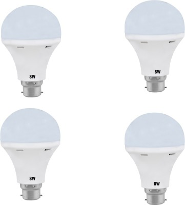 Daylight-8W-B22-LED-Bulb-(White,-Set-Of-4)