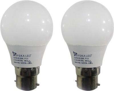 Syska-3W-B22-Plastic-LED-Bulb-(White,-Pack-of-2)