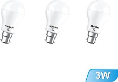 Micolux-Lighting-3W-B22-White-Led-Bulb-(Set-Of-3)