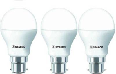 STARCO-7W-B22D-LED-Bulb-(White,-Pack-of-3)