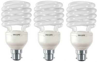 Philips Tornado B22 23 W CFL Bulb (Warm White,Pack of 3) Image