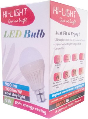 Hi-Light-9W-B22-LED-Bulb-(White)