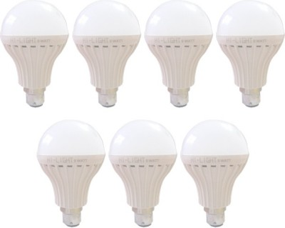 Hi-Light-9W-B22-LED-Bulb-(White,-Set-of-7)