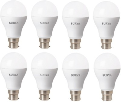 Surya-9-W-LED-B22D-Bulb-(White,-Pack-of-8)