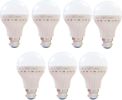 Hi-Light-7W-B22-LED-Bulb-(White,-Set-of-7)