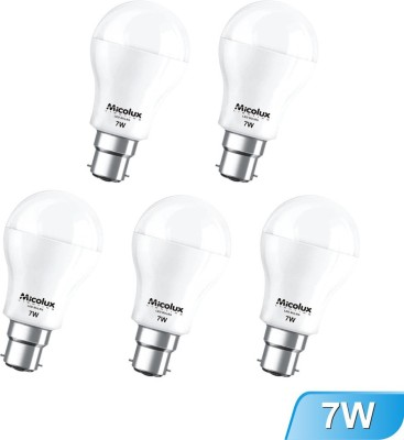 Micolux-Lighting-7W-B22-White-Led-Bulb-(Set-Of-5)