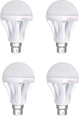 Crown-12-W-B22-LED-Bulb-(White,-Pack-of-4)